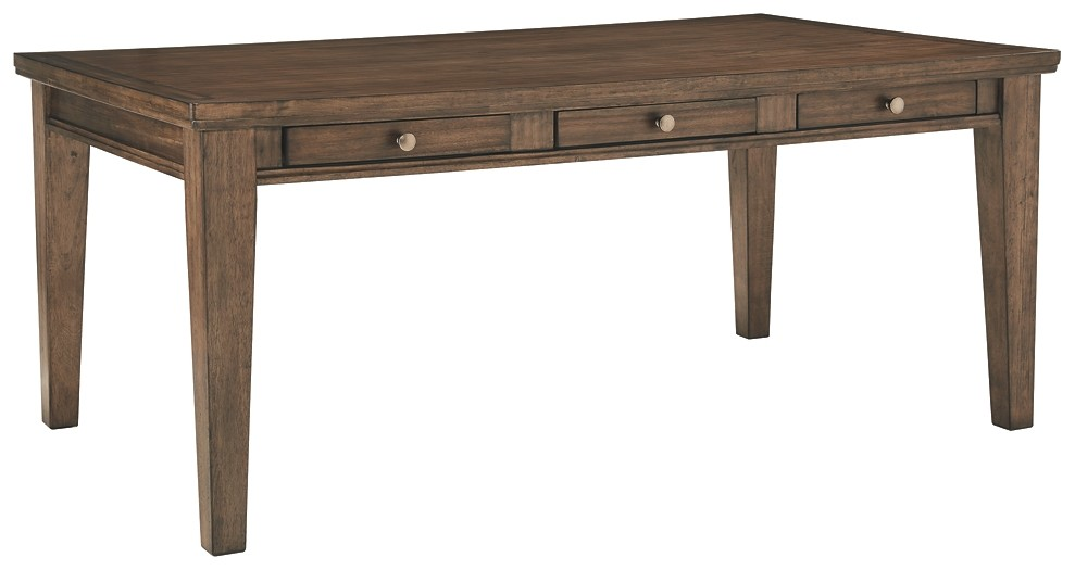 Flynnter - Medium Brown - Rectangular Dining Room Table