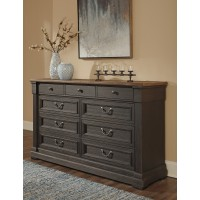 Tyler Creek - Black/Gray - Dresser