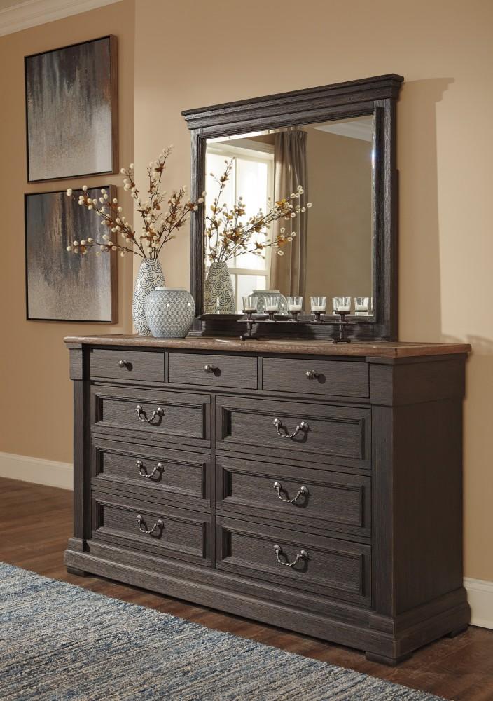 Tyler Creek - Black/Gray - Bedroom Mirror | B736-36 | Mirrors ...