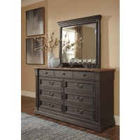 Tyler Creek - Black/Gray - Bedroom Mirror