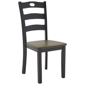 Froshburg - Grayish Brown/Black - Dining Room Side Chair (2/CN)