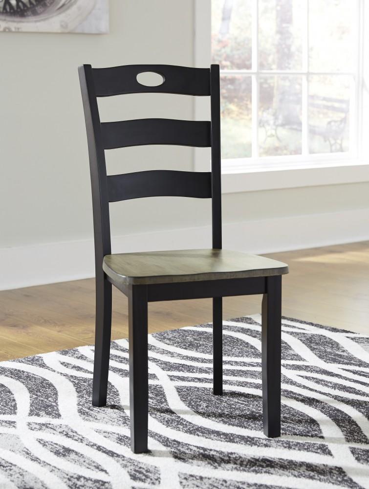 Froshburg - Grayish Brown/Black - Dining Room Side Chair (2/CN)