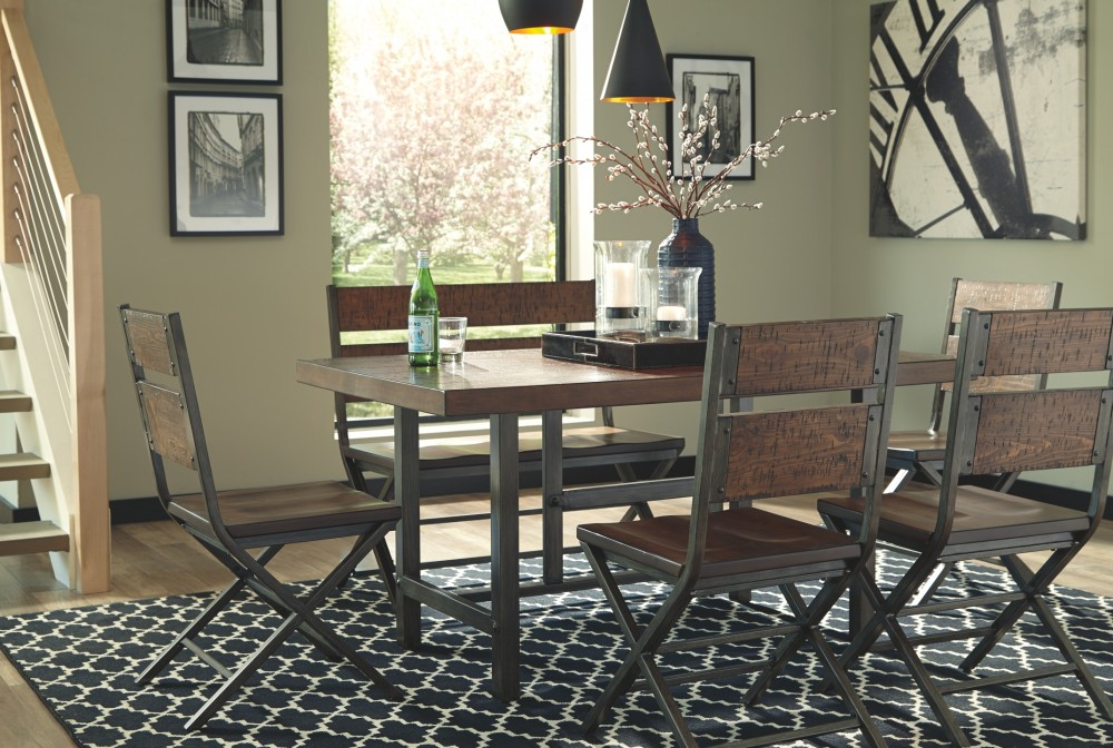 Kavara Medium Brown Rectangular Dining Room Table