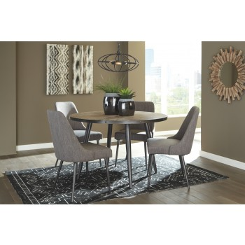 Coverty - Light Brown - Round Dining Room Table