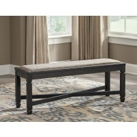 Tyler Creek - Black/Gray - Upholstered Bench