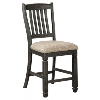 Tyler Creek - Black/Gray - Upholstered Barstool (2/CN)