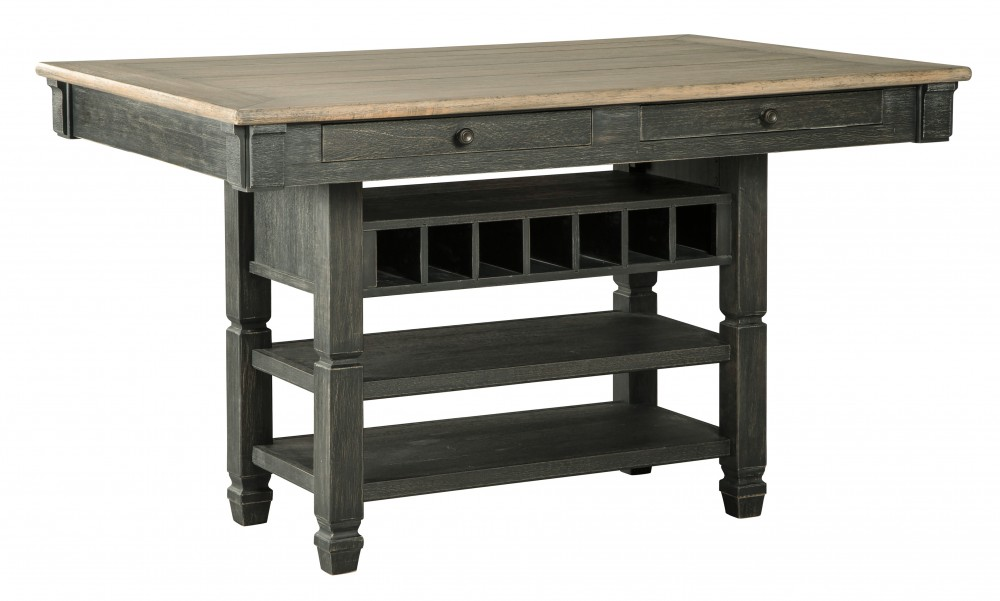 Tyler Creek - Black/Gray - RECT Dining Room Counter Table