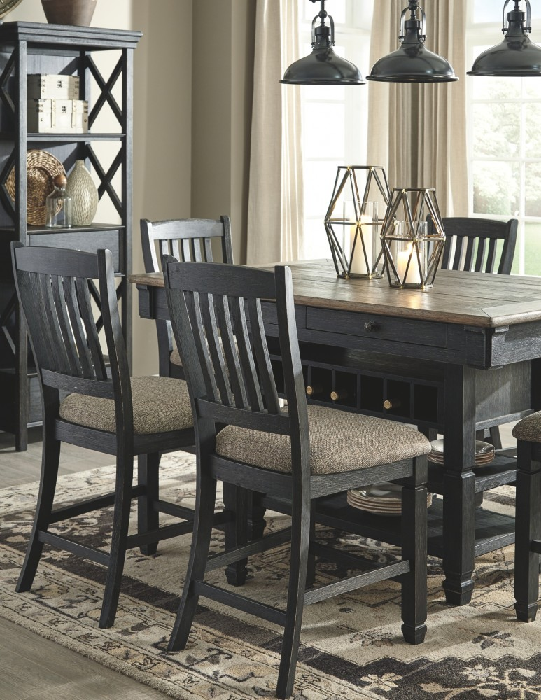 Tyler Creek Black Gray Rect Dining Room Counter Table