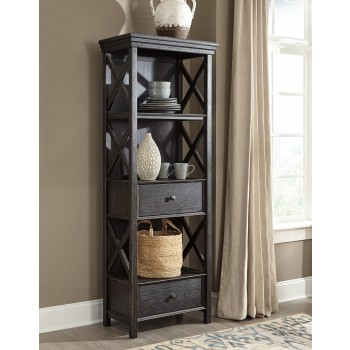 Tyler Creek - Black/Gray - Display Cabinet