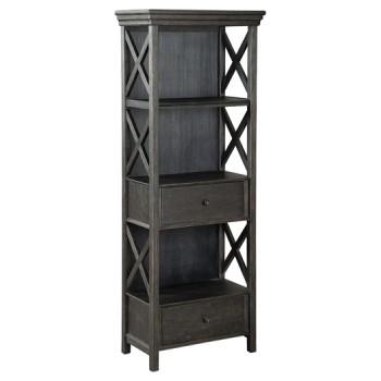 Tyler Creek - Black/Gray - Display Cabinet