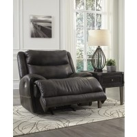 Brinlack - Gray - PWR Recliner/ADJ Headrest