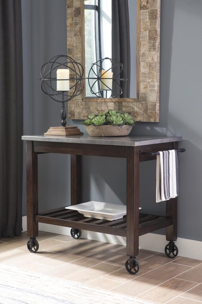 Larchmont - Burnished Dark Brown - Kitchen Cart