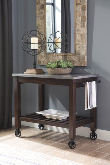 Larchmont - Burnished Dark Brown - Kitchen Cart
