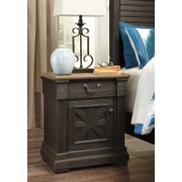 Tyler Creek - Black/Gray - Door Night Stand