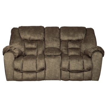 Capehorn Earth Dbl Rec Loveseat W Console 7690194