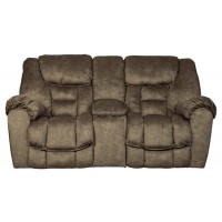 Capehorn - Earth - DBL Rec Loveseat w/Console
