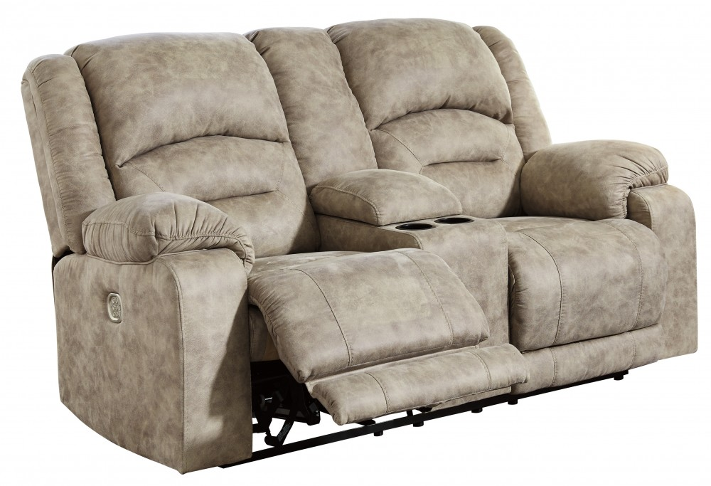 McGinty - Graystone - PWR REC Loveseat/CON/ADJ HDRST