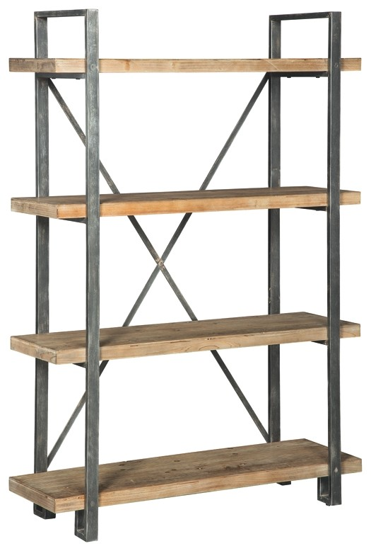Signature Design By Ashley Fossil Ridge A4000039 Solid: Forestmin - Brown/Black - Shelf