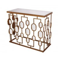 Majaci - Gold Finish - Console Table