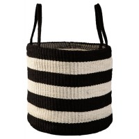 Edgerton - Black/White - Basket (Set of 2)