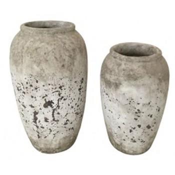 Dimitra - Brown/Cream - Vase Set (2/CN)
