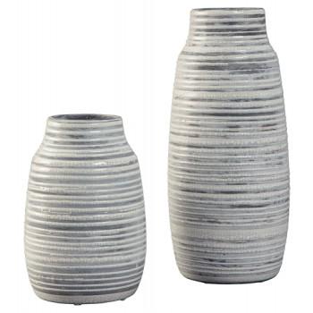 Donaver - Gray/White - Vase Set (2/CN)