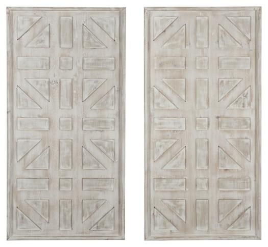 Dubem Antique White Wall Decor Set 2 Cn Wall Art Texas