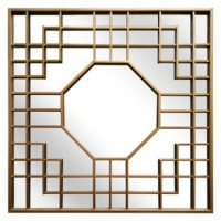 Cristobal - Gold Finish - Accent Mirror