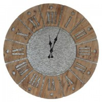 Payson - Antique Gray/Natural - Wall Clock
