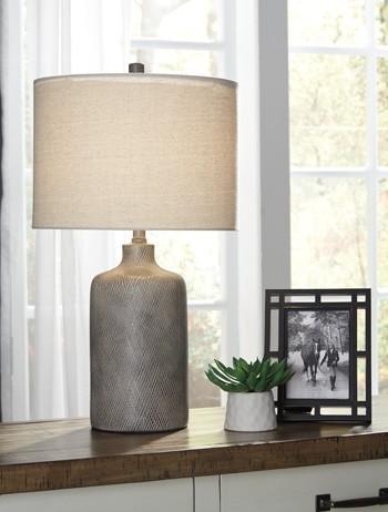 Linus Antique Black Ceramic Table Lamp 1 Cn L117964 Lamps