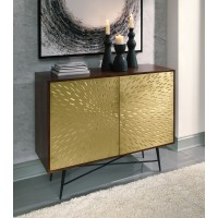 Majaci - Brown/Gold - Accent Cabinet