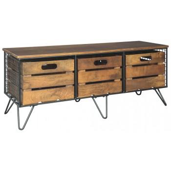 . Forestmin   Medium Brown   Storage Cabinet