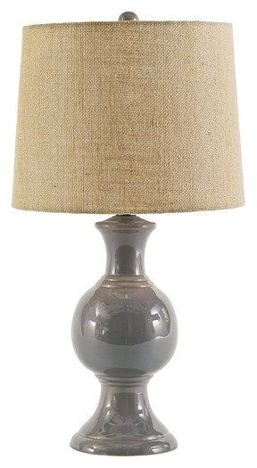 Magdalia - Gray - Ceramic Table Lamp (1/CN)