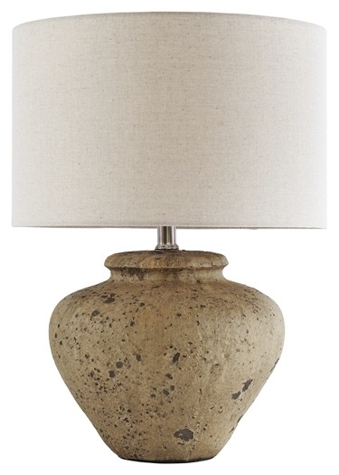 Mahfuz - Beige - Ceramic Table Lamp (1/CN)