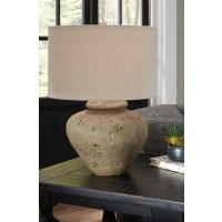 Mahfuz Beige Ceramic Table Lamp 1 Cn L100654 Lamps