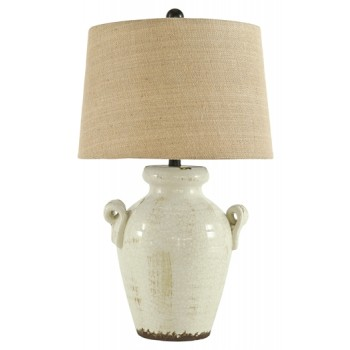 Emelda - Cream - Ceramic Table Lamp (1/CN)