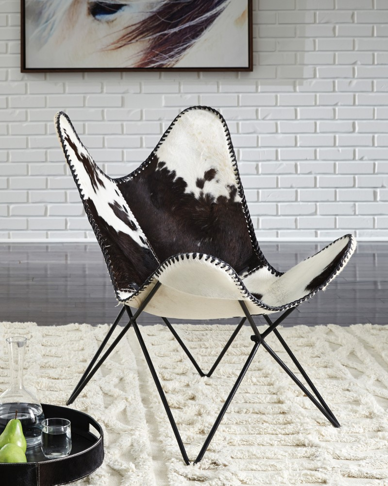 Wismar - Black/White - Accent Chair | A3000078 | Chairs | Lewis ...