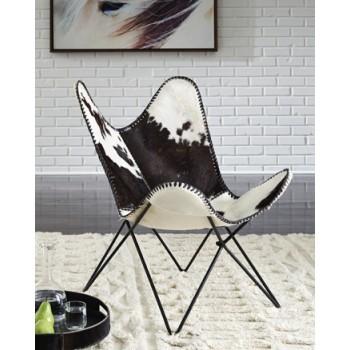 Wismar - Black/White - Accent Chair
