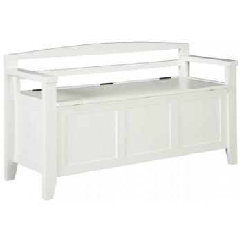 Charvanna - White - Storage Bench