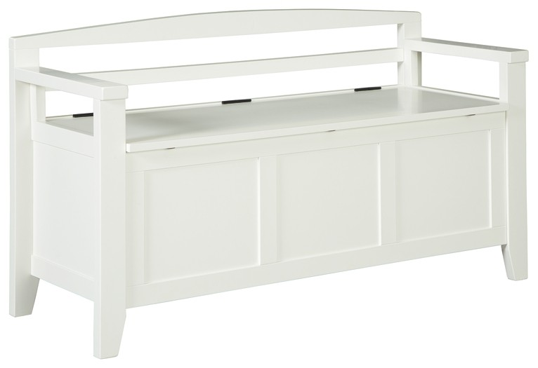 Charvanna - White - Storage Bench