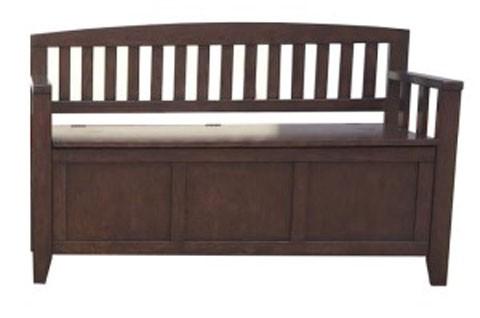 Charvanna   Dark Brown   Storage Bench