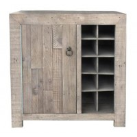 Forestmin - Gray - Wine Cabinet