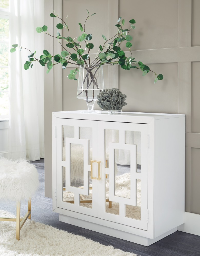 Beau Walentin   White   Accent Cabinet