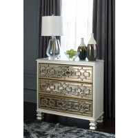 Senzernell - Gold/Silver Finish - Accent Cabinet