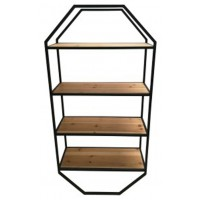 Elea - Black/Natural - Wall Shelf