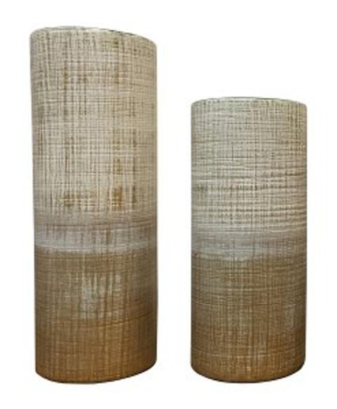 Dorotea Gold Finishwhite Vase Set 2cn A2000129 Vases