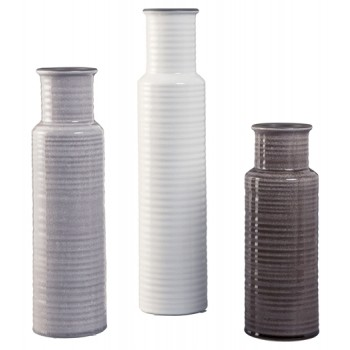 Deus - Gray/White/Brown - Vase Set (3/CN)