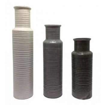 Deus Graywhitebrown Vase Set 3cn A2000132 Vases