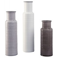 Deus - Gray/White/Brown - Vase Set (3/CN)