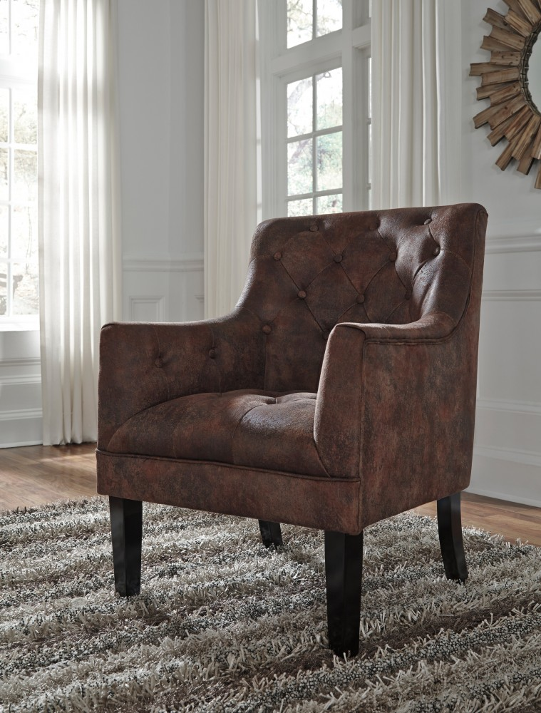 Bon Drakelle   Mahogany   Accent Chair